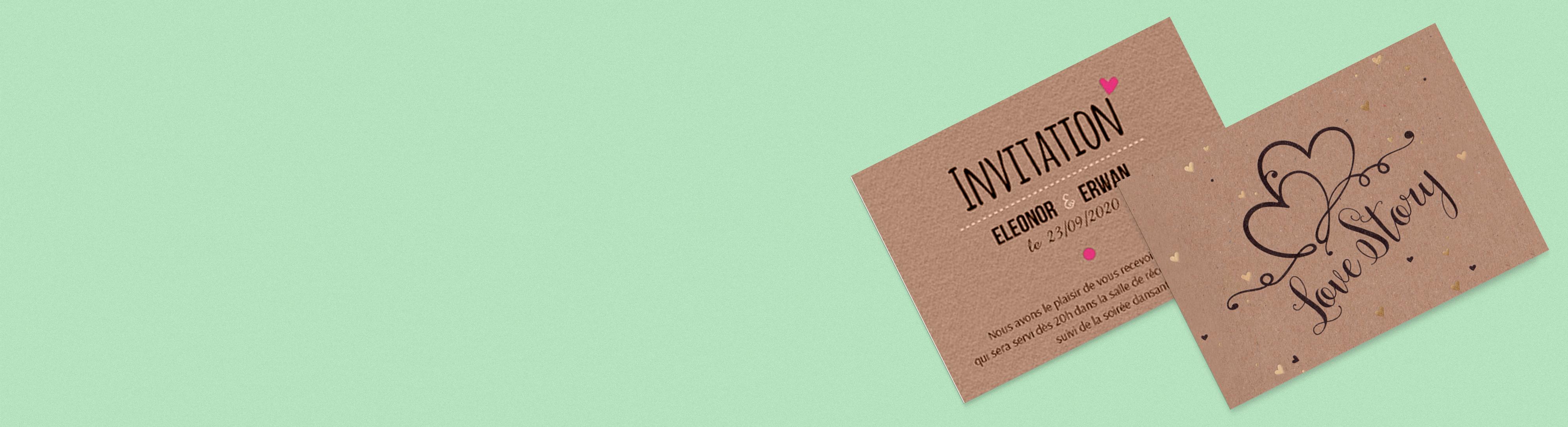 Carton invitation papier recyclé