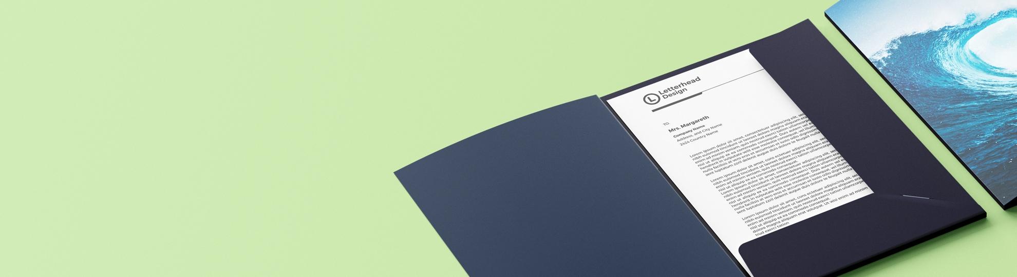 Chemise à rabat pochette personnalisée Imprim Up envoi express