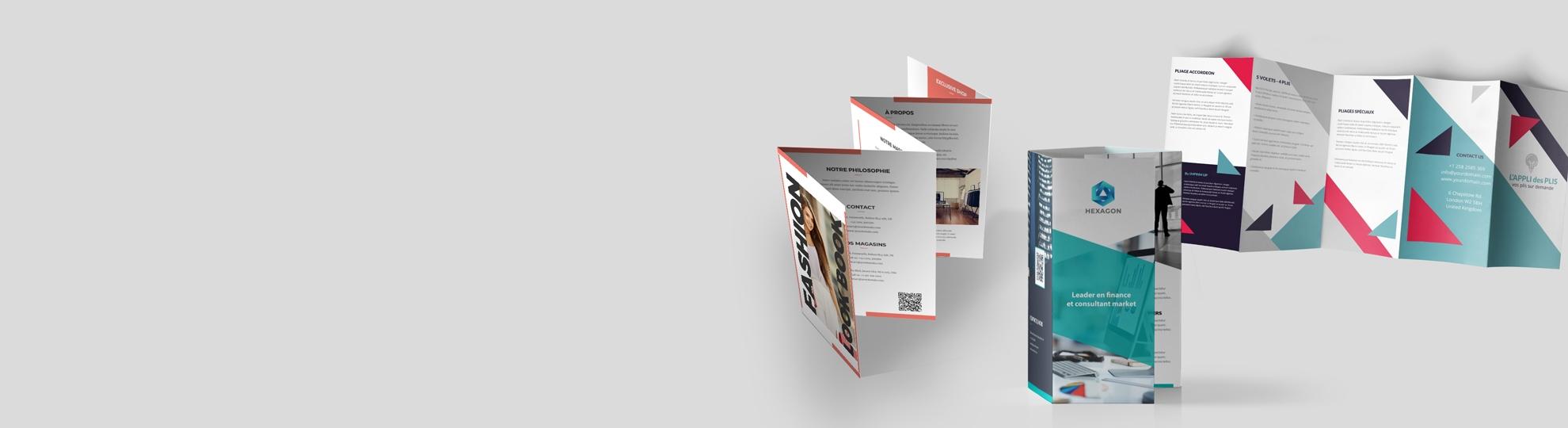 Imprimer vos dépliants plis spéciaux Autres 5, 6 et 8 volets