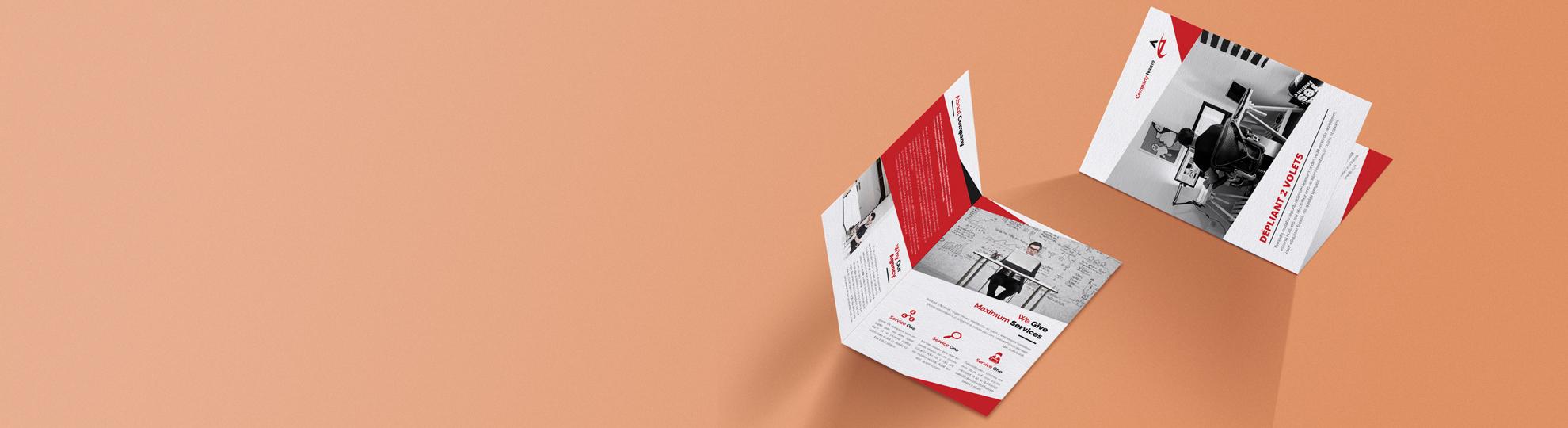 Dépliant en papier recyclé 2 volets personnalisé