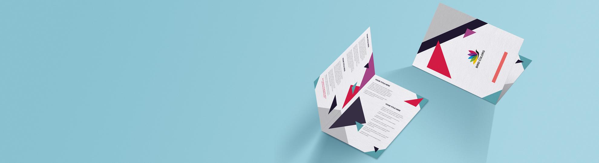 Impression dépliant Standard 2 volets, 1 pli ou 4 pages