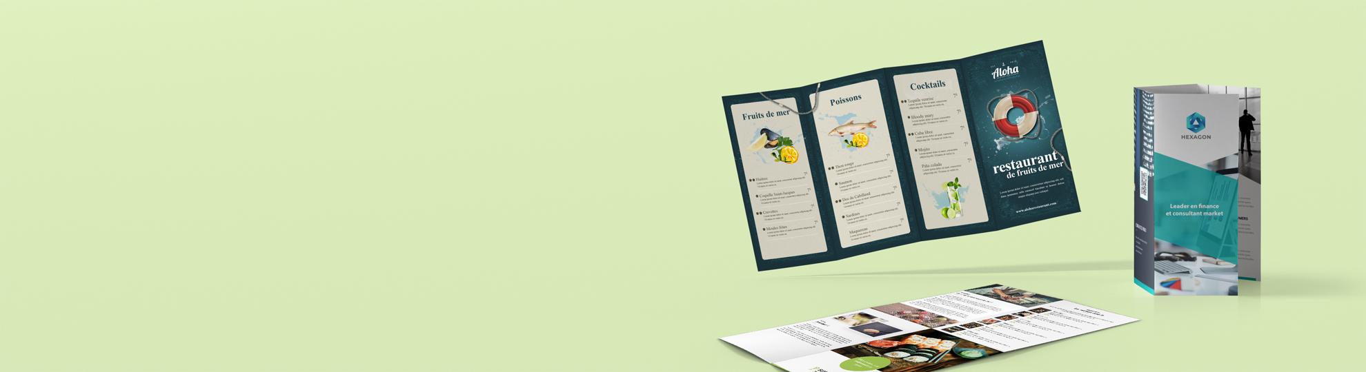 Imprimer dépliant publicitaire envoi express