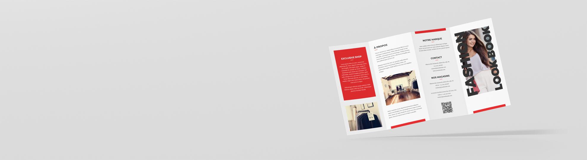 Imprimer dépliant pli accordéon 4 volets standard personnalisé
