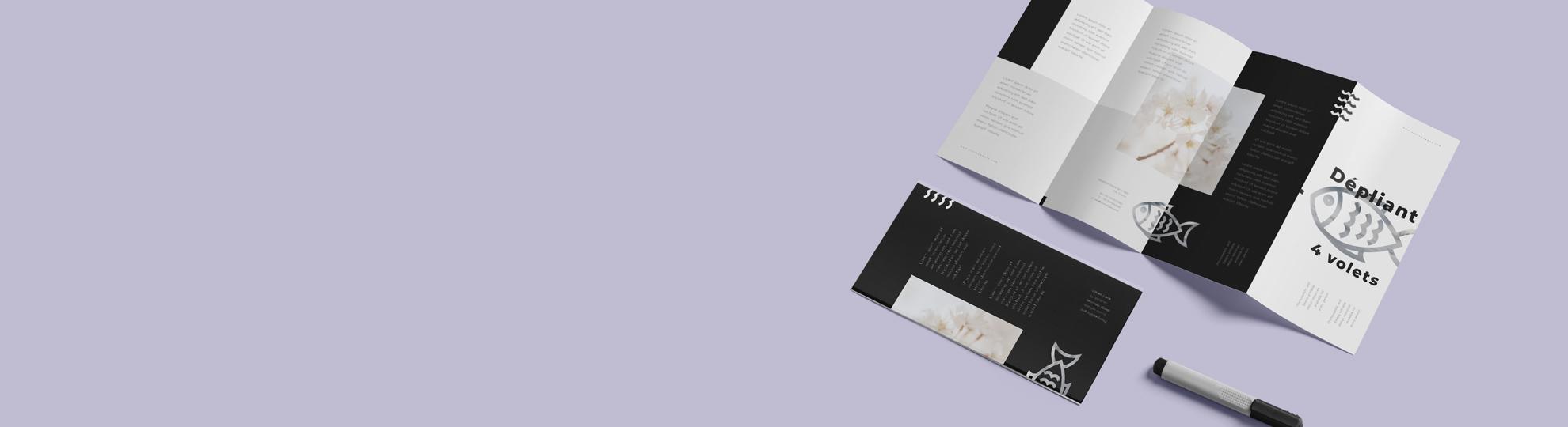 Imprimer dépliant pli accordéon 4 volets personnalisé