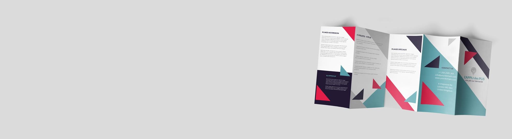Imprimer dépliant publicitaire plis spéciaux accordéon 5 volets