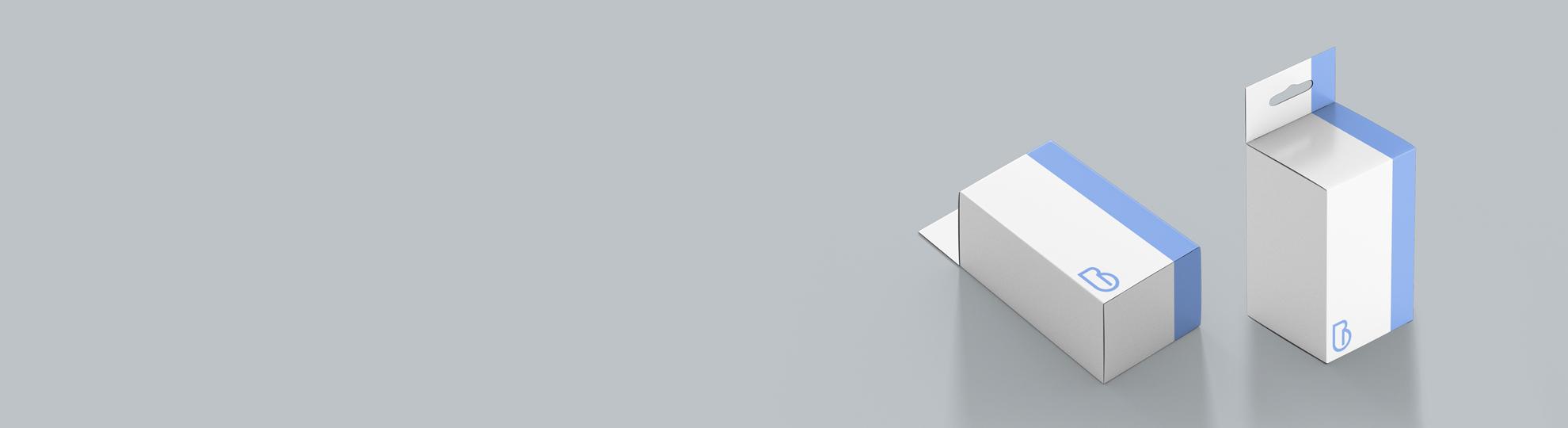 Boîte pliante à accrocher et à personnaliser