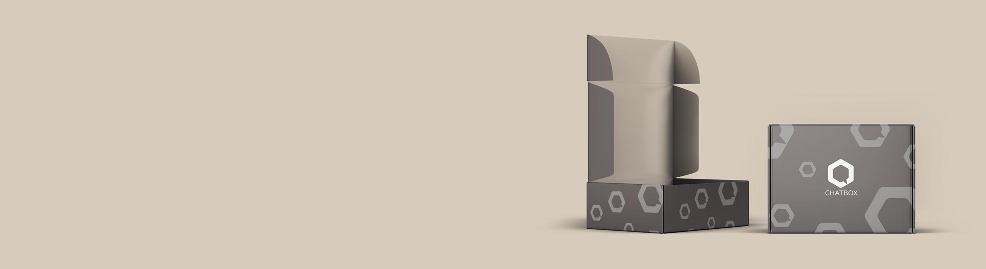 Boîte pliante à accrocher publicitaire à personnaliser