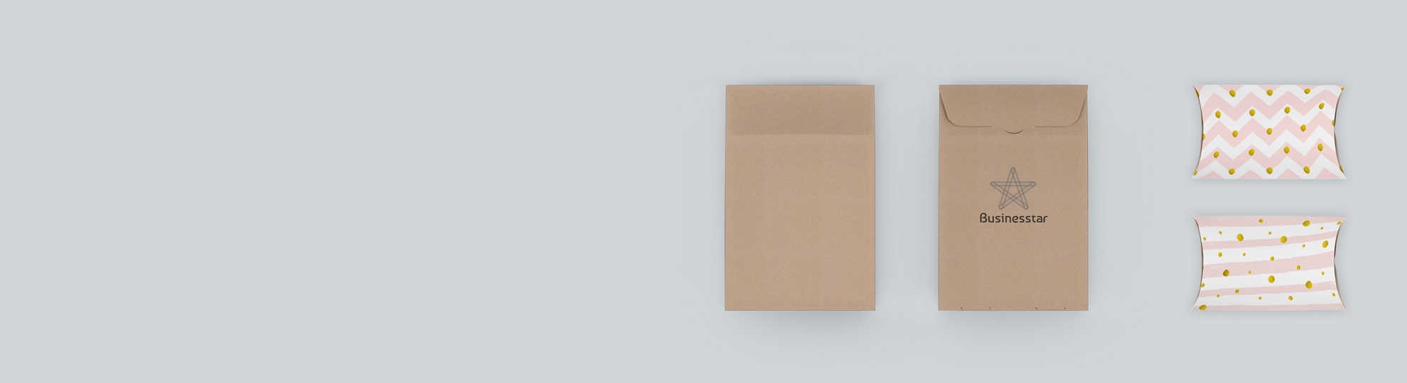 Boîte berlingot et pochette carton à personnaliser