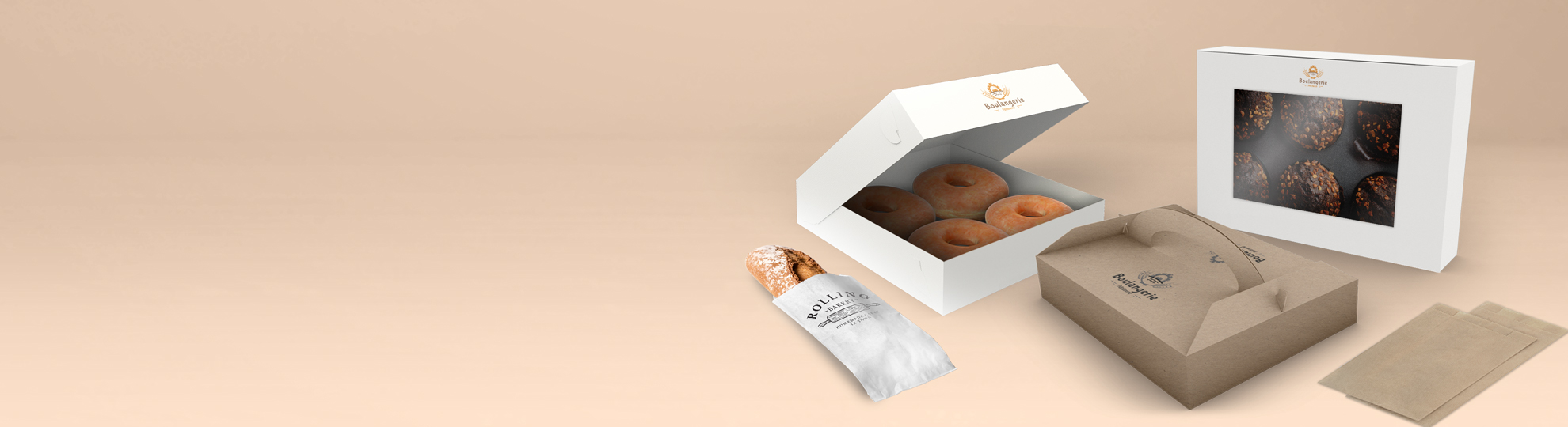 Emballage boulangerie pâtisserie à personnaliser