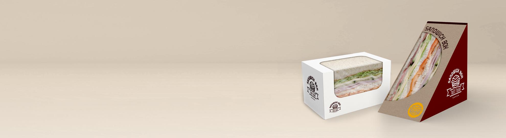 Emballage sandwich publicitaire