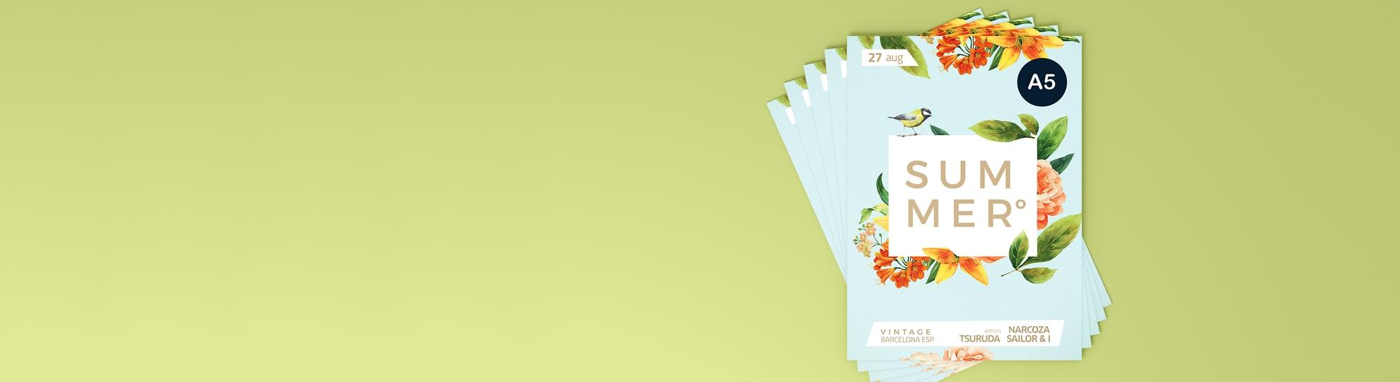 Impression écologique flyer sur papier recyclé