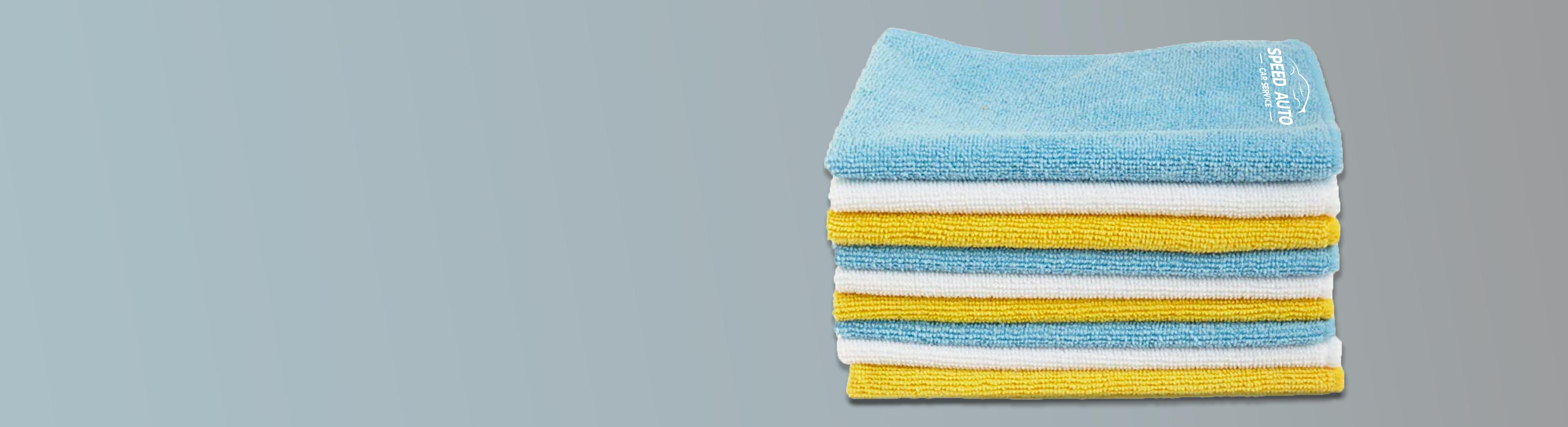 Chiffon de nettoyage ou serviette pub polyester personnalisé set publicitaires