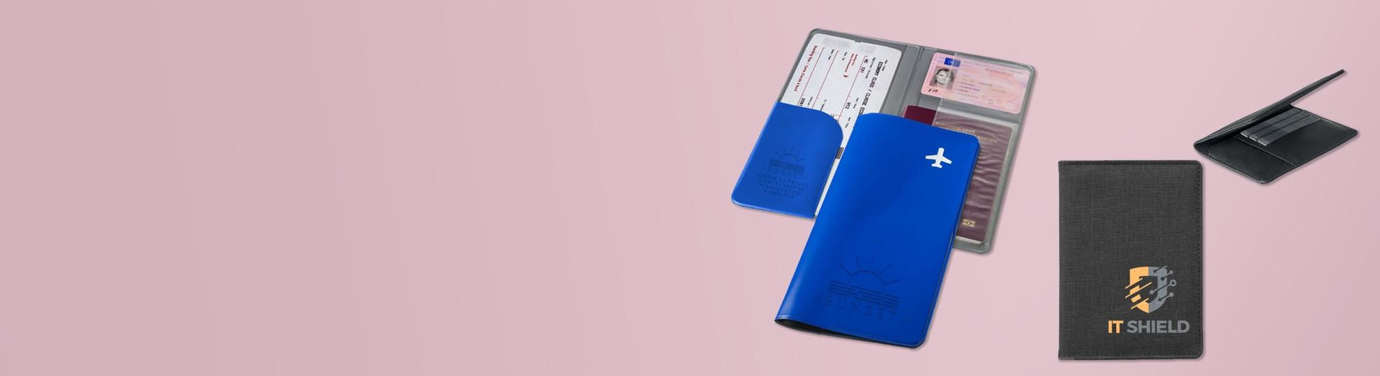 Étui passeport publicitaire personnalisé