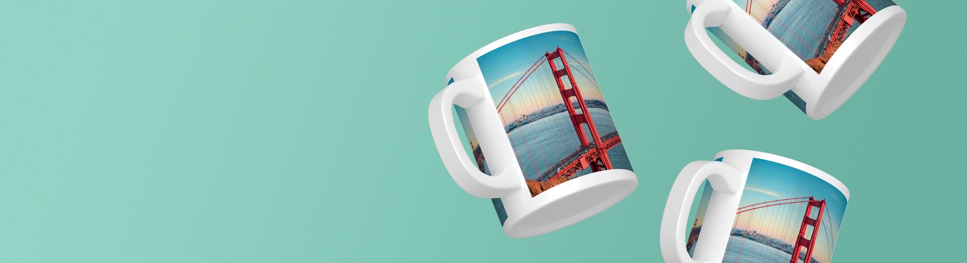 Mug photo panoramique personnalisé