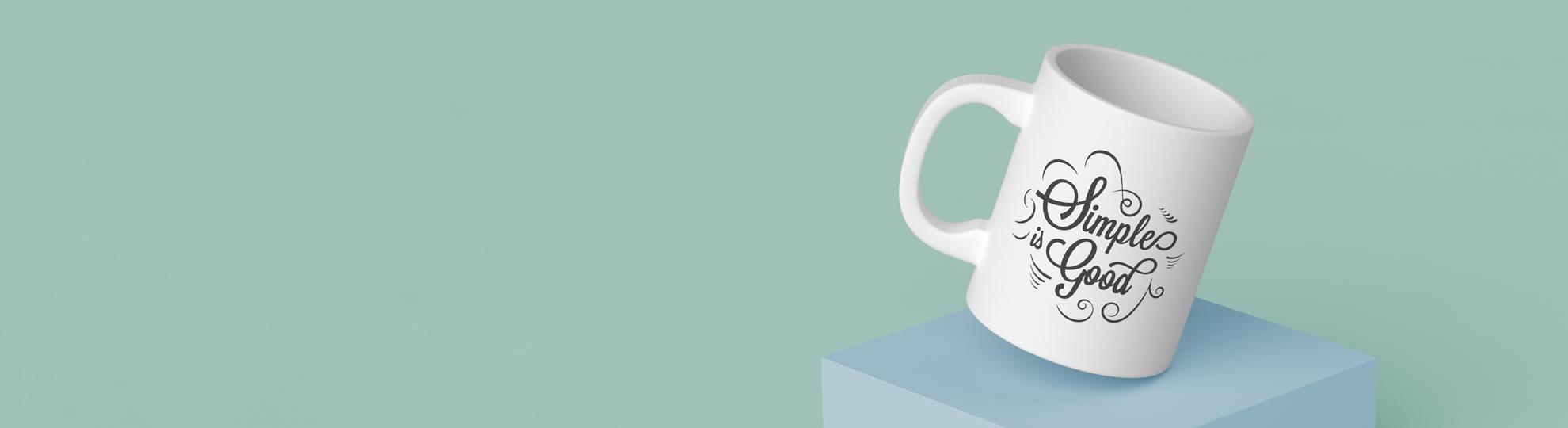 Mug recto publicitaire personnalisable