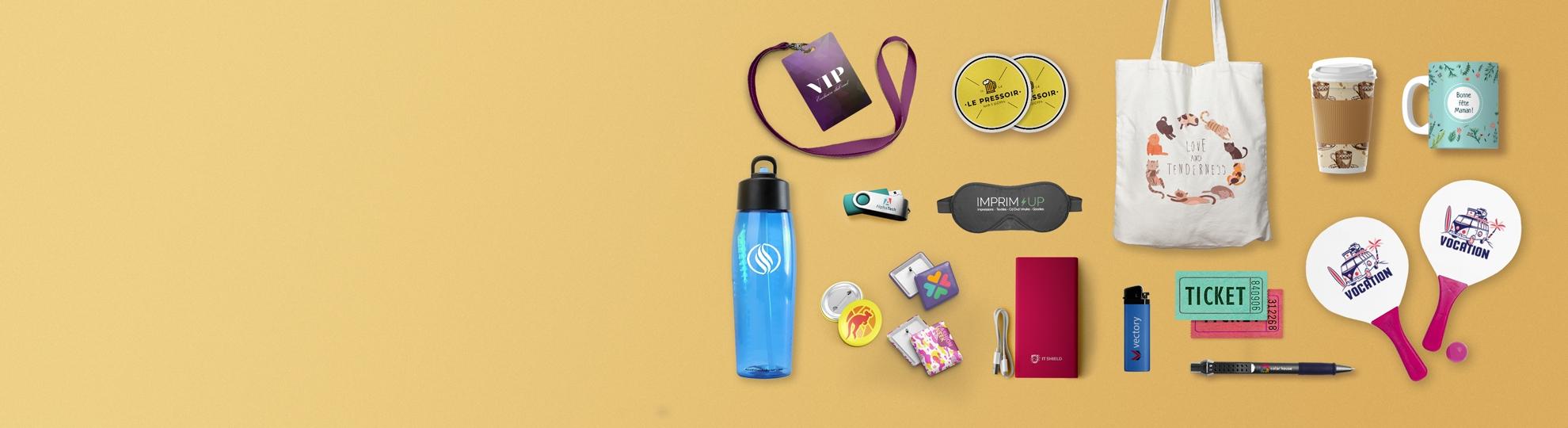 Impression sur objets publicitaires et cadeau entreprise personnalisés