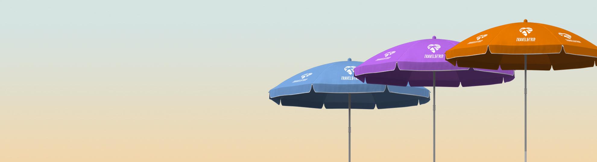 Parasol personnalisé et publicitaire