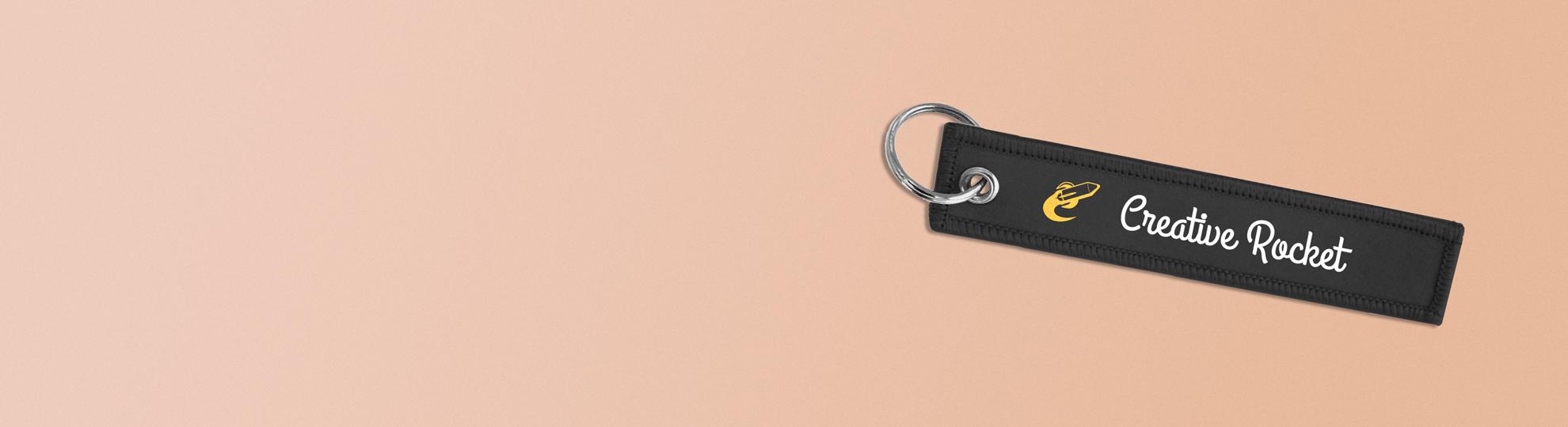 Porte-clé textile personnalisé publicitaire
