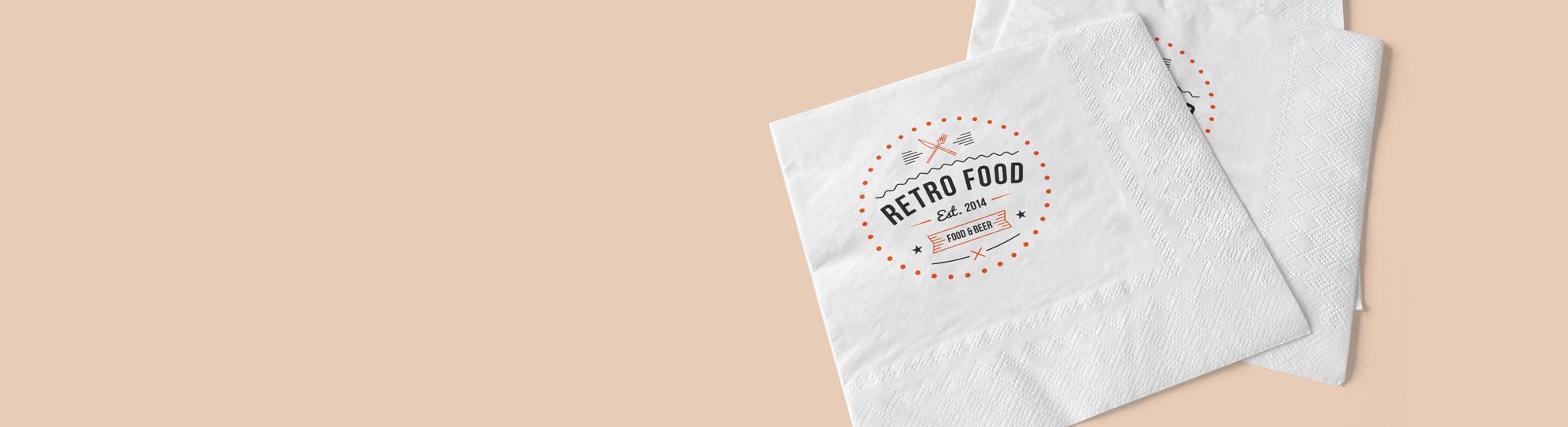Impression serviette papier personnalisée