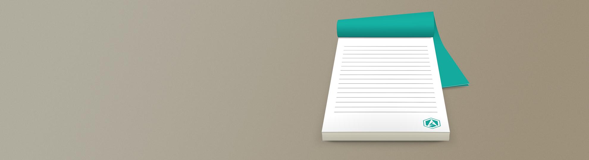 Impression bloc-note personnalisé papier recyclé