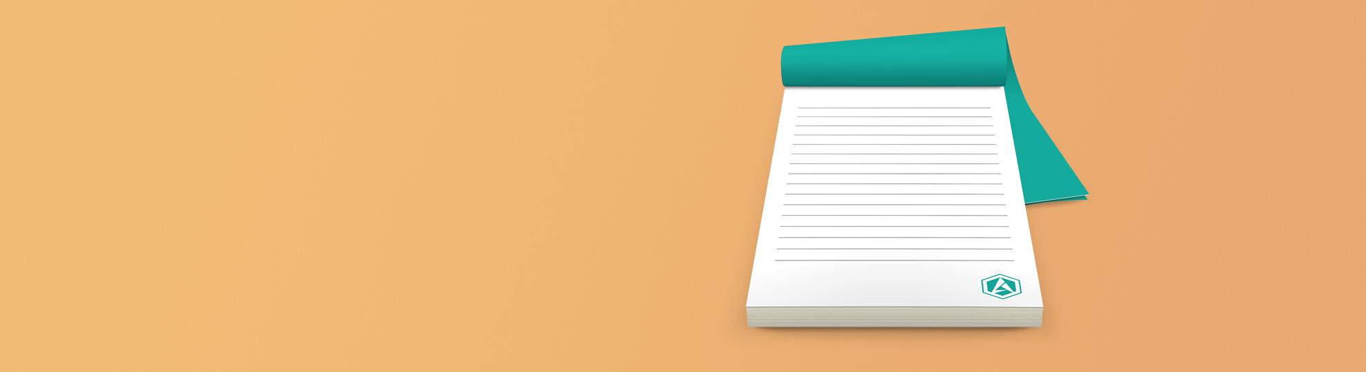 Impression bloc-note personnalisé entreprise
