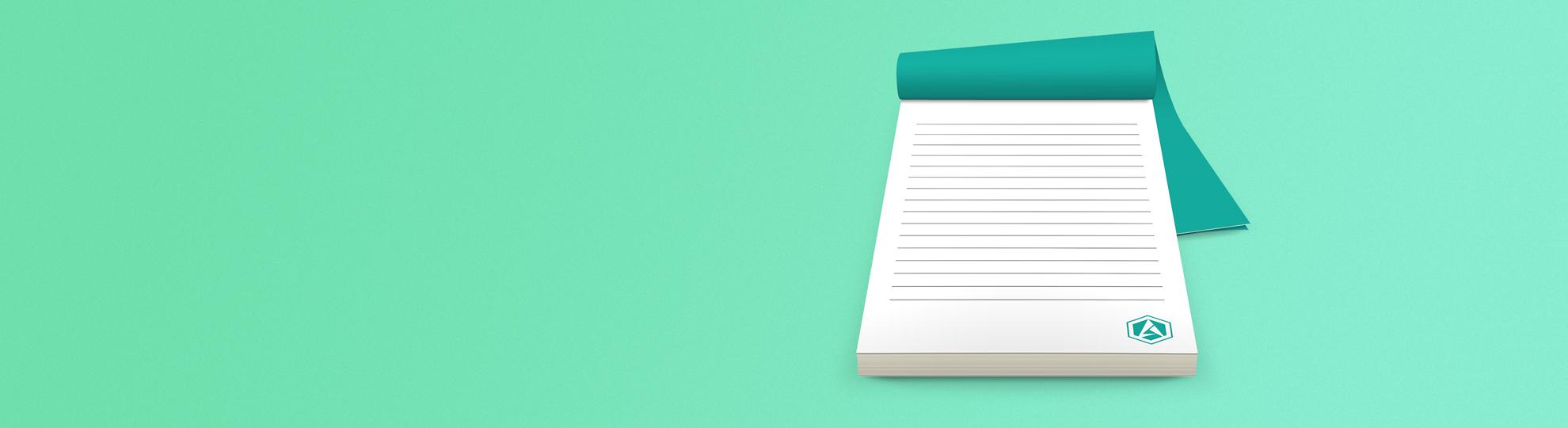 Impression bloc-note personnalisé entreprise standard