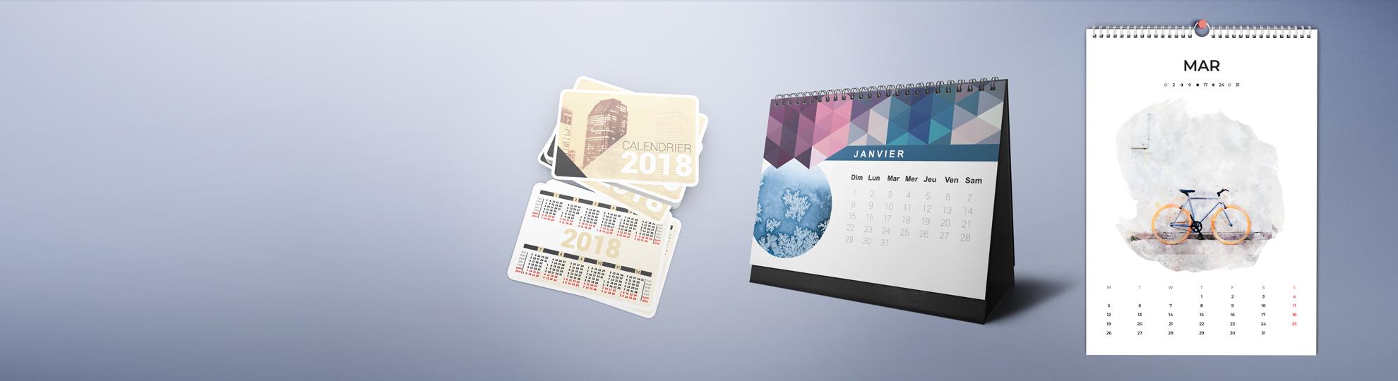 Impression calendrier personnalisé photo et entreprise