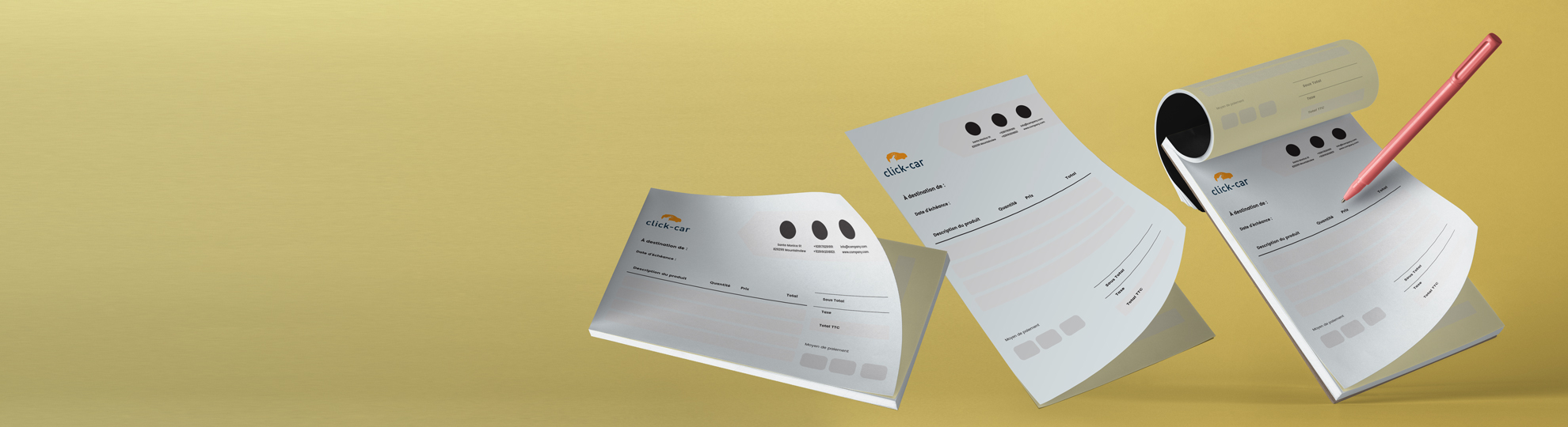 Imprimer papier carnet autocopiant liasse et souche