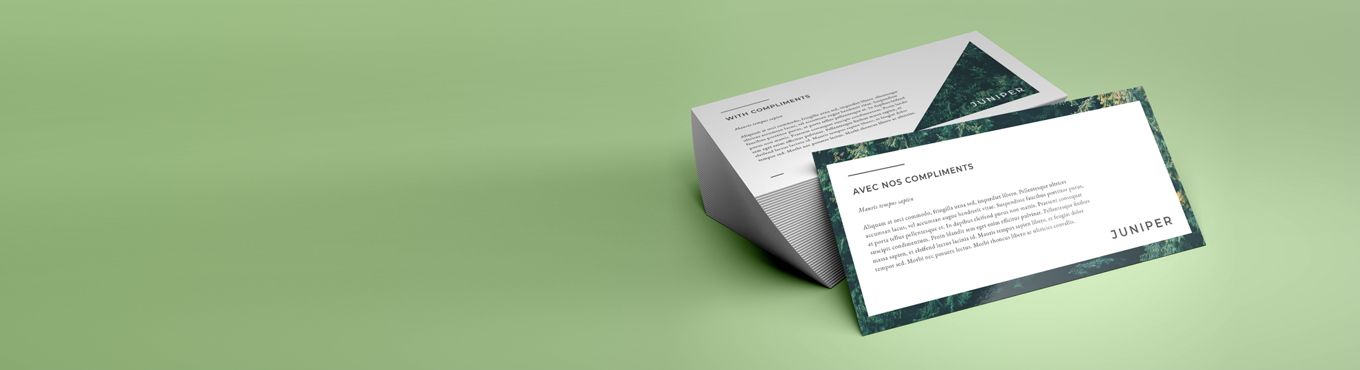 Imprimer cartes de correspondance recyclé