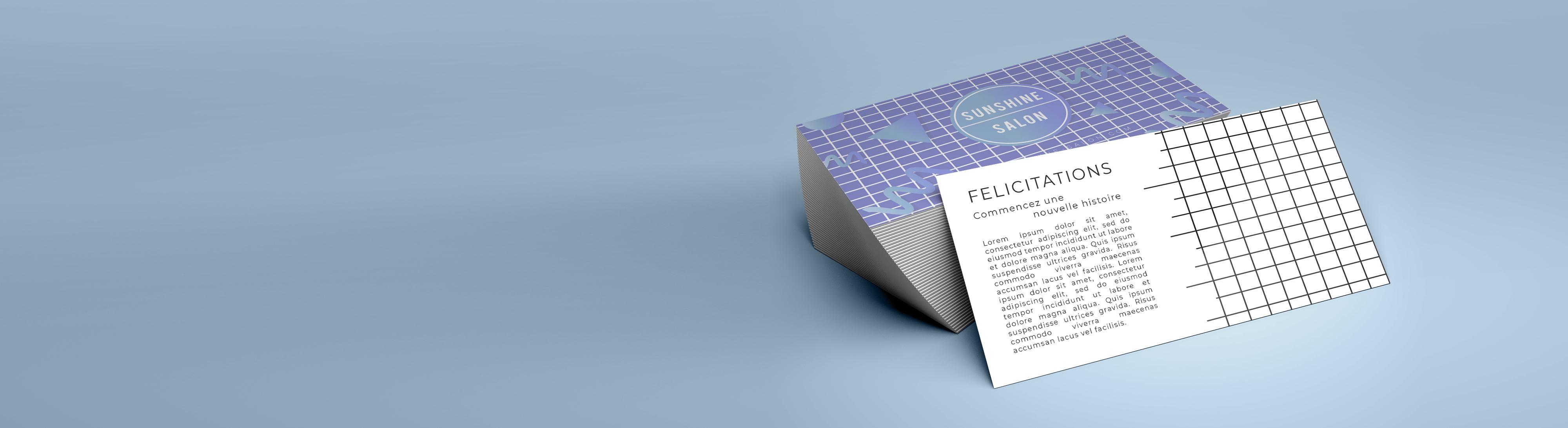 Imprimer cartes de correspondance standard