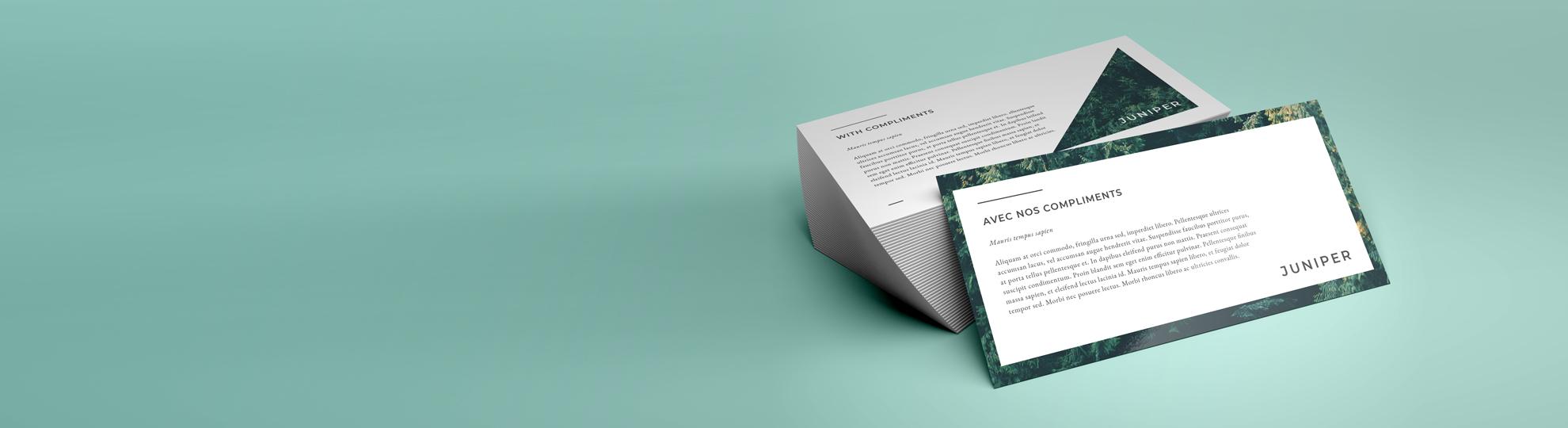 Imprimer cartes de correspondance personnalisées