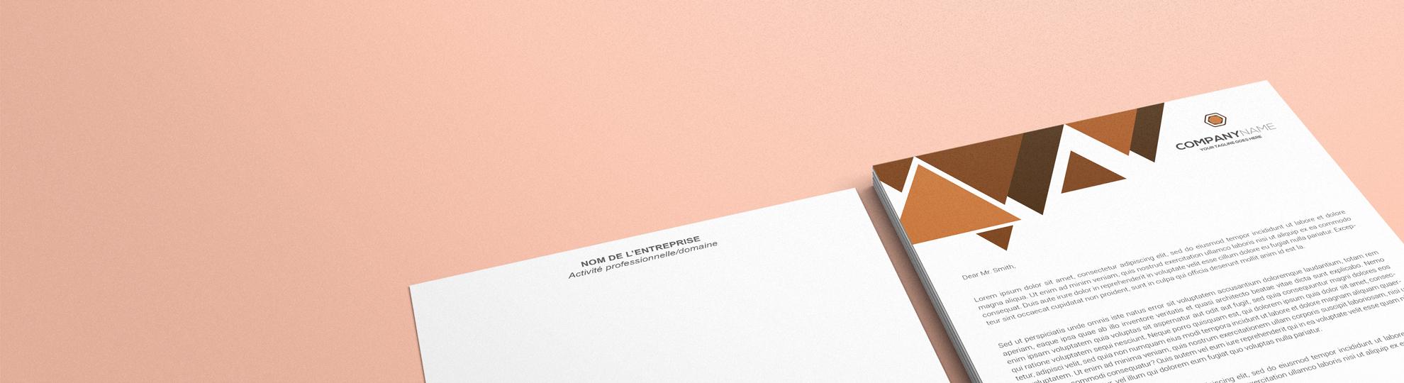 Papier à lettre express personnalisable à imprimer entête