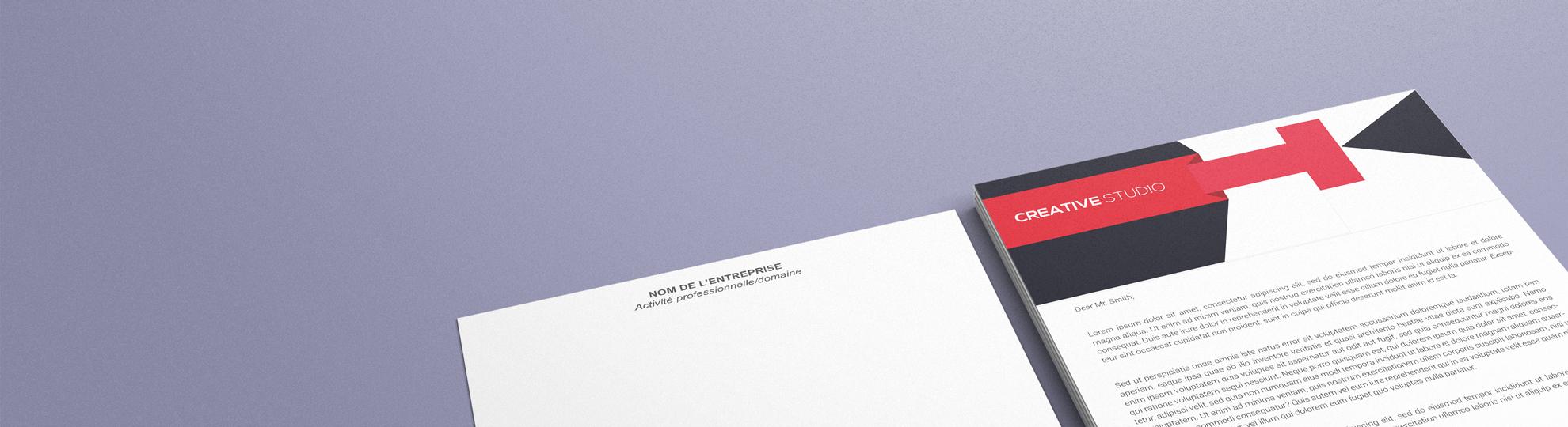 Papier à lettre luxe personnalisable