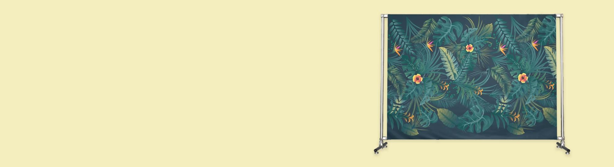 Impression recto-verso sur Photocall avec sublimation sur textile