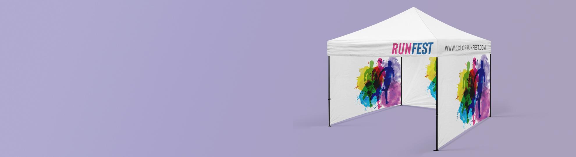 Imprimer tente publicitaire personnalisée