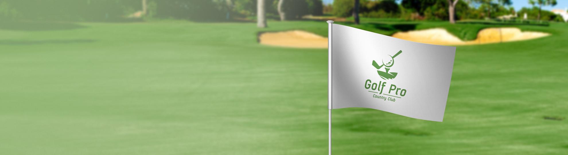 Drapeau golf personnalisé impression