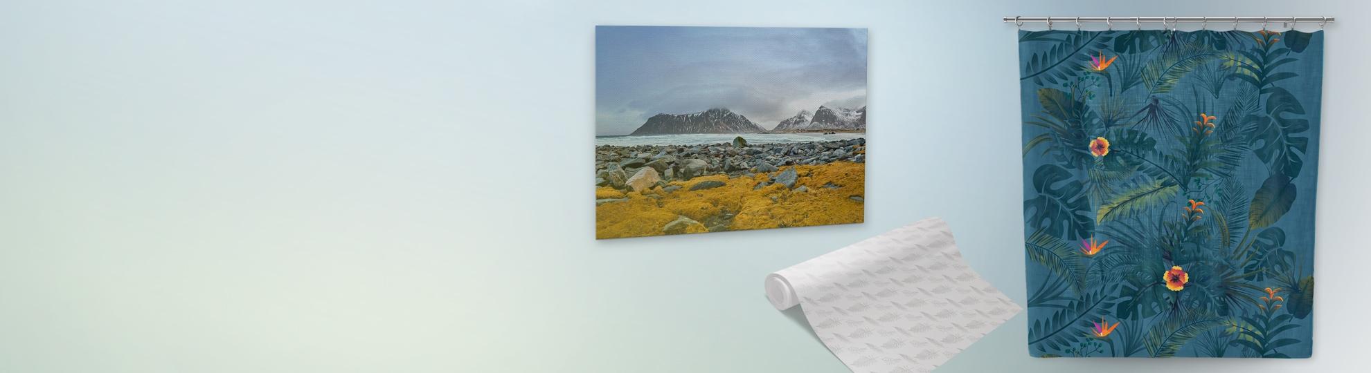 Imprimer décoration murale, salon, entrée, bureau