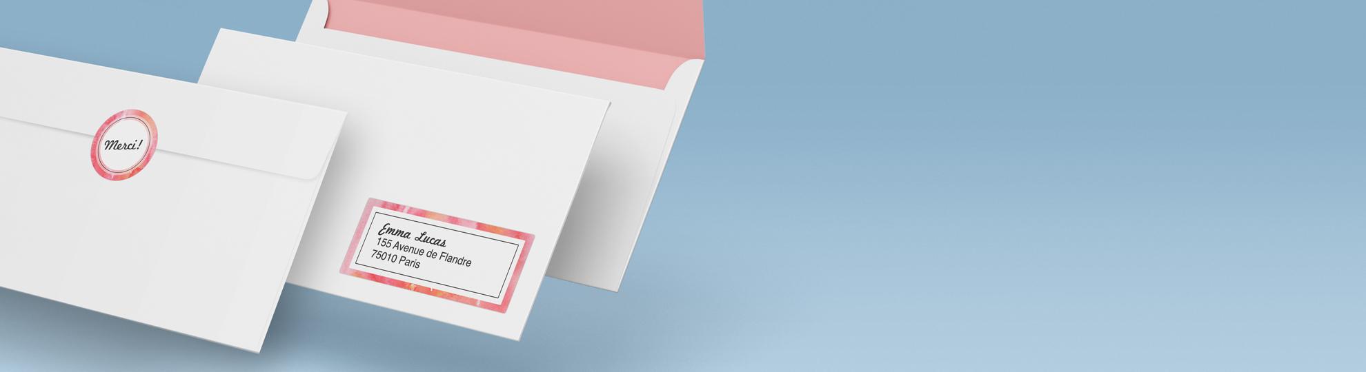 imprimer étiquette personnalisée