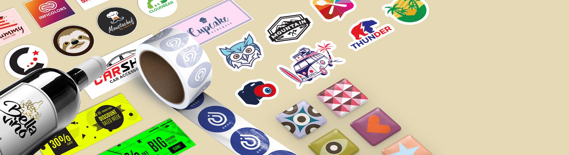 Sticker personnalisé et impression autocollant
