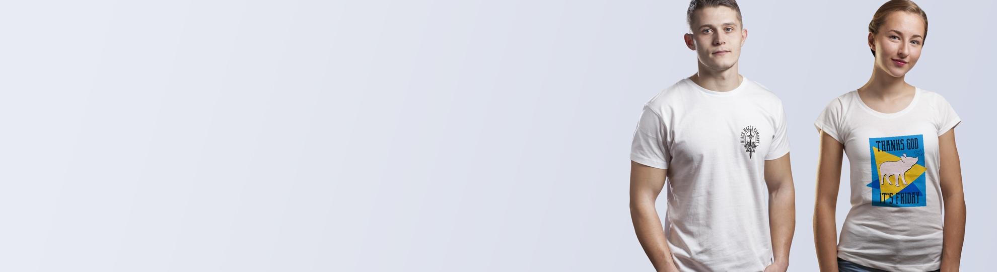 Impression t-shirt manche courte col rond homme et femme personnalisé pas cher
