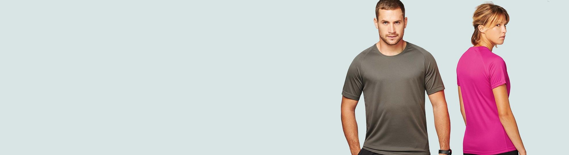 Impression t-shirt sport homme et femme personnalisé pas cher