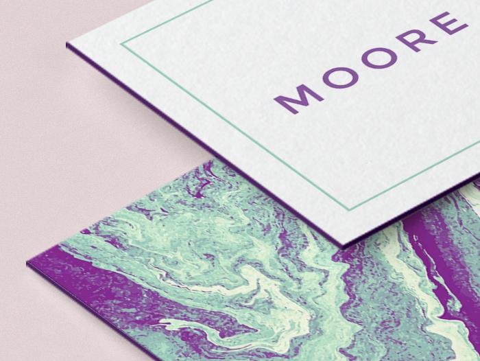 Impression carte de visite tranches colorées pas cher