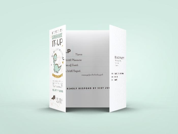 Impression carton invitation 3 volets pas cher