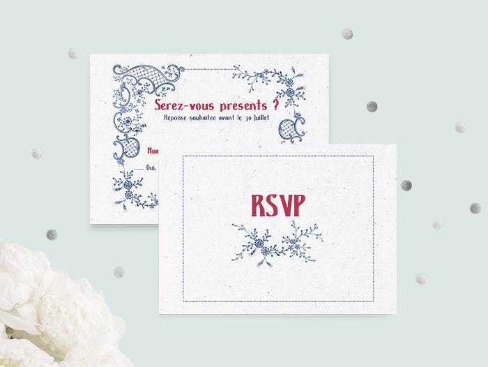 Impression carton invitation standard pas cher