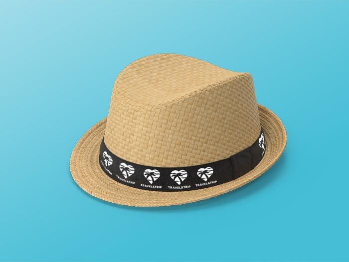 Chapeau de paille personnalisé pas cher