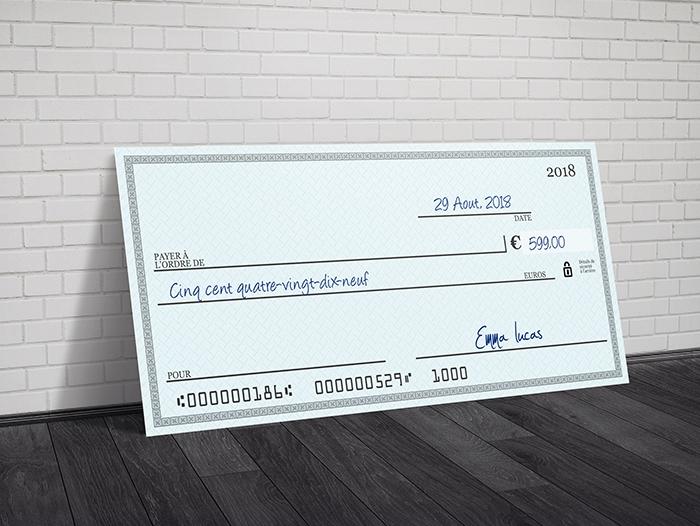 Impression chèque géant pas cher