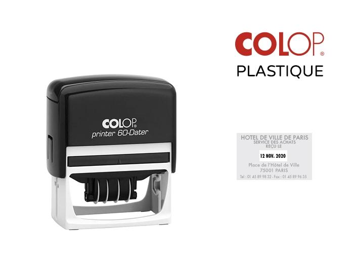 Dateur Colop Plastique rectangle