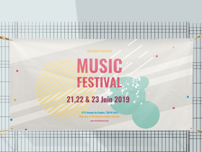 Impression Bache festival personnalisée