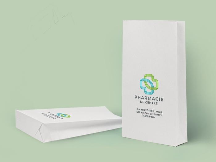 Sac papier pharmacie pas cher