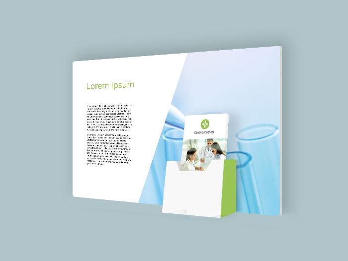 Impression PLV Porte flyer carton receptacle publicitaire